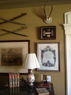 For Tom's office elegant antler display by Heritage Game Mounts/ photo2/ blog #antlers #linen