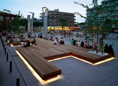 Plaza Decking / Bench