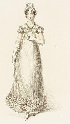 Evening Dress, September 1818