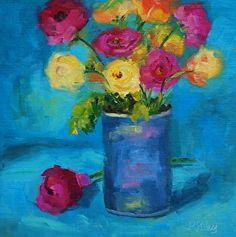 A Fresh New Day by Paula Riley Oil ~ 12 x 12