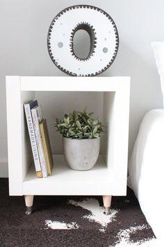 69 ideas furniture makeover diy nightstand ikea hacks for 2019 Ikea Bedroom, Diy Bedroom Decor, Diy Home Decor, Bedroom Storage, Bedroom Ideas, White Bedroom, Bedroom Wall, Jungle Bedroom, Bedroom Shelves