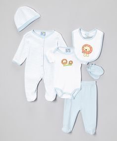 Look what I found on #zulily! Blue Lion Six-Piece Layette Set - Infant by Sweet & Soft #zulilyfinds
