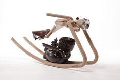 Rocking antique motorcycle...