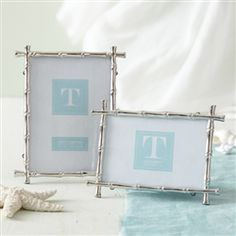 Two's Company Silver Bamboo Frame - Large