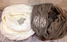 Monogrammed infinity scarves are the perfect Fall accessory! Look cute while showing your team spirit! Add an embroidered Monogram and make it Perfectly Southern!