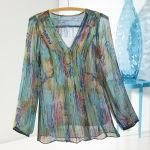 Sheer Impressionist Blouse