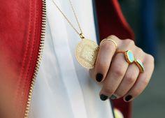 Hammered Ring, Atlantis Gem Ring and Baja Ring | Monica Vinader  #MonicaVinader #StackAndShare