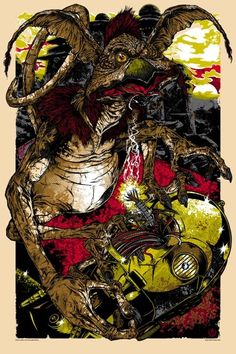 Jabba's irritating and Threepio-hungry pet Salacious B. Crumb. Created by artist Rhys Cooper