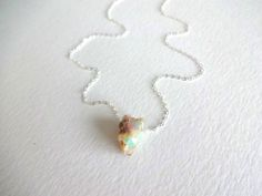 getiing something from her for sure. inspired. Rough Opal Pendant and 925 Sterling Silver Chain Necklace