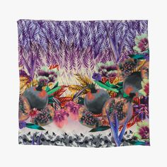 Carré imprimé adriana barra : echarpes et foulards adriana barra - le bon marché rive gauche
