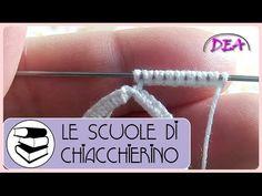 Chiacchierino ad Ago - Split Ring, come si usa, confronto con il Cerchio. Shuttle Tatting Patterns, Needle Tatting Patterns, Filet Crochet, Diy Jewelry, Jewelry Making, Needle Lace, Crochet Patterns For Beginners, Split Ring, Needlework