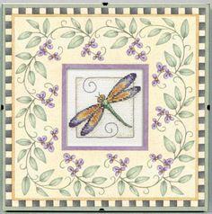 Daydreams By Debbie Mumm Dragonfly Dreams Counted Cross Stit-8 X8
