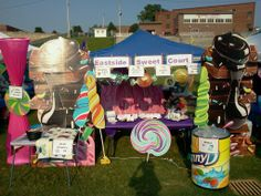 amazing relay for life campsite | Our Relay booth, the Eastside Sweet Court. We used decorations left ...