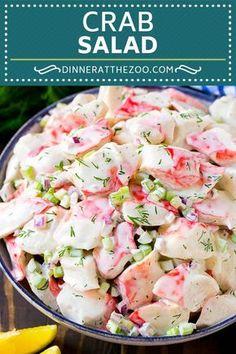 Crab Salad Recipe Crab Salad Recipe Crab Salad Recipe Seafood Salad Deli Salad C. Crab Meat Salad, Seafood Salad, Seafood Dishes, Crab Pasta Salad, Seafood Platter, Sea Food Salad Recipes, Fish Recipes, Seafood Recipes, Dinner Recipes