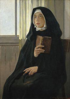 La novícia ,1898 - Joan Llimona (Spanish, 1860-1926)