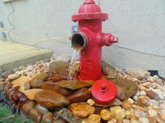 Deck with Fire Hydrant water feature