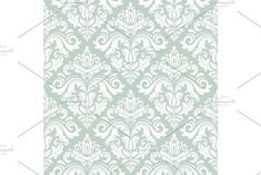 Floral vector oriental pattern with damask, arabesque and floral elements. Seamless abstract wallpaper and background Oriental Pattern, Mosaic Designs, Arabesque, Vector Pattern, Abstract Backgrounds, Tapestry, Graphic Design, Damask Patterns, Antiques