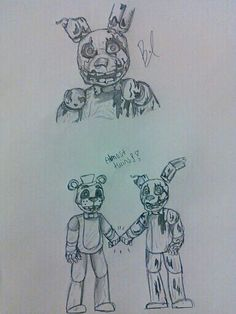I drew this in my spare time..... ITS FNAF 3!!! HOW DID I DO?? RATE ME !