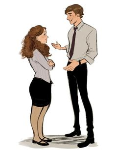 Pam and Jim Parks N Rec, Parks And Recreation, The Office Characters, Disney Characters, Fictional Characters, Character Inspiration, Character Design, Character Art, Office Jokes