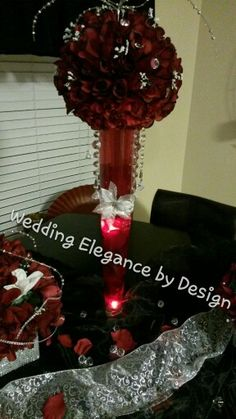Rose centerpiece Wedding Elegance by Design 7133529189 Rose Centerpieces, Centerpiece Wedding, Christmas Wreaths, Elegant, Holiday Decor, Design, Home Decor, Classy, Holiday Burlap Wreath
