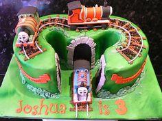 Thomas & friends number 3 cake - by vanillasugar @ CakesDecor.com - cake decorating website