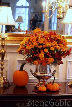 Fall Mum Decor