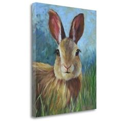 Tangletown Fine Art 'Wild Bunny Rabbit' by Cheri Wollenberg Painting Print on Wrapped Canvas