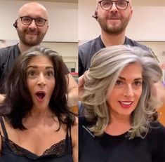 Before and After: Colorist Helps Client Say Goodbye to Black Box Color and Hello. - Before and After: Colorist Helps Client Say Goodbye to Black Box Color and Hello to Natural Silver - Long Gray Hair, Hair Color For Black Hair, Gray Hair Women, Curly Gray Hair, Grey Hair Over 50, Black And Grey Hair, Grey To Black Hair Naturally, Best Gray Hair Dye, Grey Hair Natural