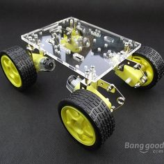 DIY Tracking Obstacle Avoidance Suspension Smart Car Chassis Sale - Banggood.com