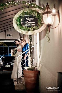 A emocionante entrada da noiva