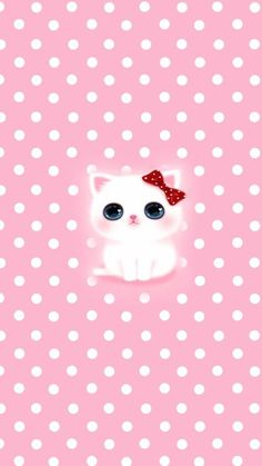 Good Looking Anime Kitten Pink Wallpaper. iPhone X Wallpaper 216524694570727855 # Pretty Phone Wallpaper, Pink Wallpaper Iphone, Pink Iphone, Cat Wallpaper, Kawaii Wallpaper, Animal Wallpaper, Cellphone Wallpaper, Cute Cartoon Wallpapers, Pretty Wallpapers