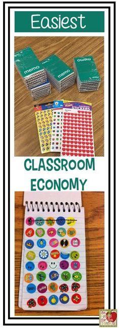 Super easy classroom economy using stickers
