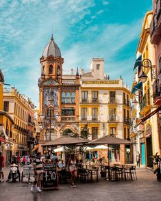 Valencia, Sevilla Spain, Seville, Life Is Good, Street View, Plaza, World, City, Building