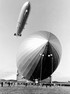 A pair of Zeppelins by Dr. Paul Wolff & Tritschler Alfred, Photographers: The first German photo agency, founded in 1927 Old Photos, Vintage Photos, Photography Exhibition, Dieselpunk, Historical Photos, Leica, Aircraft, Germany, Adventure