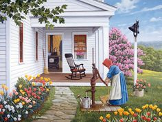 Labor of Love  JohnSloaneArt.com - John Sloane - Gallery - Spring