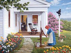 Labor of Love  JohnSloaneArt.com - John Sloane - Gallery - Spring