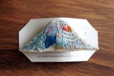 Embroidered Mountain Brooch