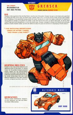 Transformer of the Day: Greaser Transformers Drawing, Transformers Decepticons, Transformers Characters, Transformers Movie, Gi Joe, Transformers Generation 1, Greaser, Classic Cartoons, Comic Book Characters