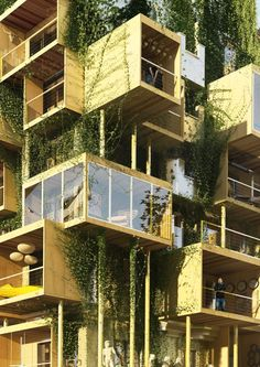 Plug-in city 75 by Stephane Malka Architecture in Paris Modern Architecture House, Modern House Design, Amazing Architecture, Architecture Details, Habitat Collectif, Facade Design, Interior Exterior, Building, Kauai Hotels