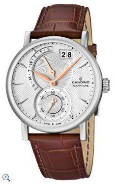 Reloj analógico Candino http://www.marjoya.com/relojes-candino-candino-hombre-reloj-candino-acero-hombre-c44851-p-6825.html