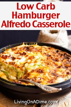 Preheat the oven to 350 degrees. Combine the noodles, beef, soup, tomatoes, cheese, and Hamburger Alfredo Recipe, Low Carb Hamburger Recipes, Hamburger Pie, Easy Hamburger Casserole, Healthy Hamburger, Hamburger Meat Casseroles, Low Carb Casseroles, Easy Hamburger Meals, Quick Meals