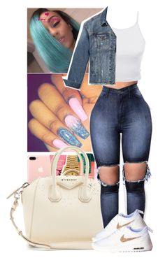 """""""✨"""" by mafiia-queen ❤ liked on Polyvore featuring Givenchy, LE3NO and Hollister Co."""