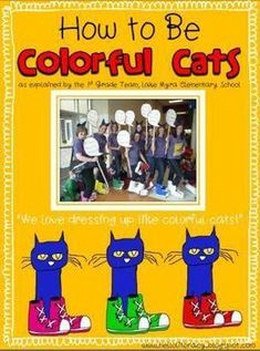 FREE How-To Book for Teachers on how to dress up like Pete the Cat, for a dress-up day or school book character day - pictures and instructions included Pete The Cat Shoes, Pete The Cats, Pete The Cat Costume, Book Character Day, Character Dress Up, Storybook Character Costumes, Book Characters Dress Up, Kindergarten Activities, Book Activities