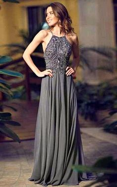 Elaborately A-Line Spaghetti Strap Beading Floor-Length Dresses, Cute Homecoming Dresses