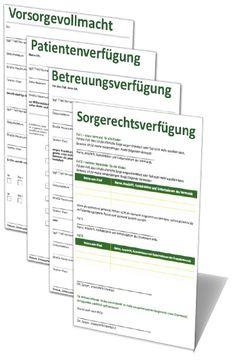 Patientenverfügung, Vorsorgevollmacht und mehr   Mein-Vorsorgepaket.de