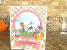 Easter card using Lawn Fawns Eggstra Special Easter set