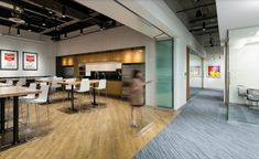 SSDG Interiors designed the headquarters for restaurant company Cactus Club Café, located in Vancouver, Canada. With continuous expansion across Canada, Restaurant Branding, Restaurant Design, Work Cafe, Open Office, Workplace Design, Commercial Flooring, Break Room, Engineered Hardwood, Hospitality