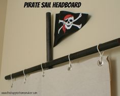 The Happier Homemaker: Pirate Sail Headboard