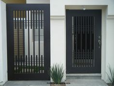 Door Decorating Style 2018 for 50 Best Of Modern Iron Doors, you can see 50 Best Of Modern Iron Doors and more pictures for Door Designing 2018 286616 at Door World. Door Grill, House Gate Design, Window Grill Design, Door Gate Design, Iron Doors, Iron Gates, Tor Design, Boundary Walls, Modern Door