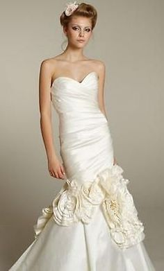 3cf44825b6df Ivory Lazaro LZ3164 Mermaid   Trumpet Strapless Wedding Gown